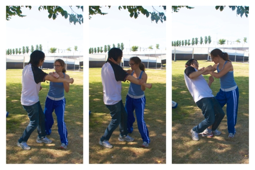 Self-defence training in Westerpark (Amsterdam)